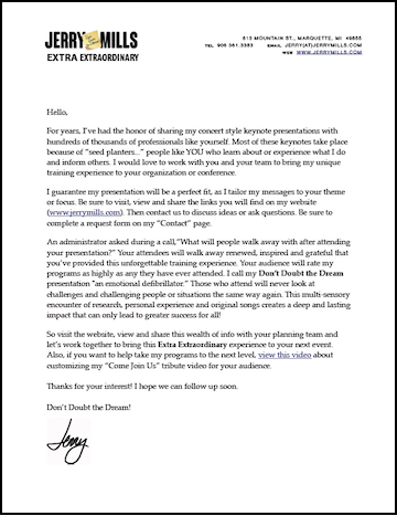 A Letter from Jerry